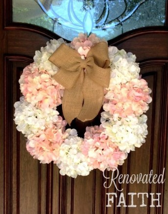 DIY Hydragea Wreath