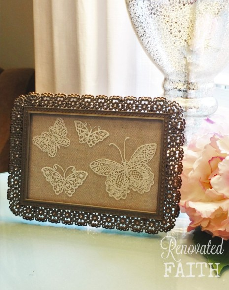 small butterfly frame