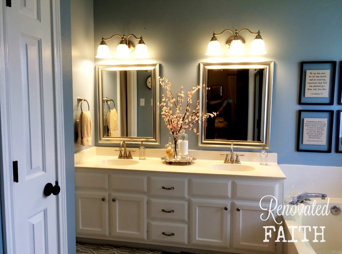 Light And Airy Master Bath Makeover Renovated Faith