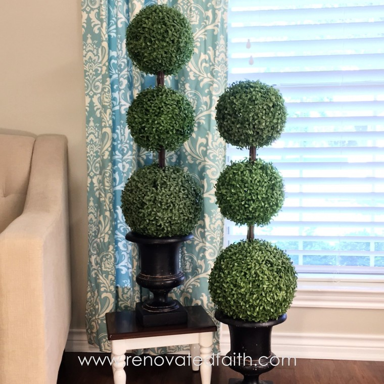 twin topiaries